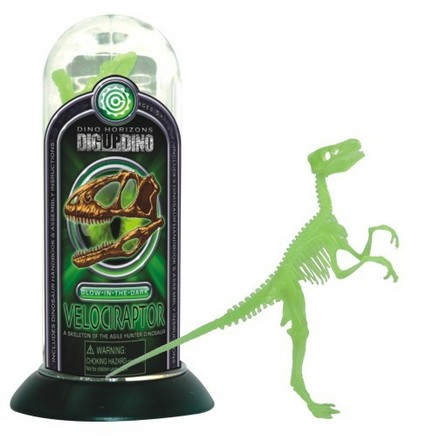 Glow-In-the-Dark Test-Tube Velociraptor picture