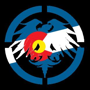 "10"" Colorado Eagle Die Cut picture"