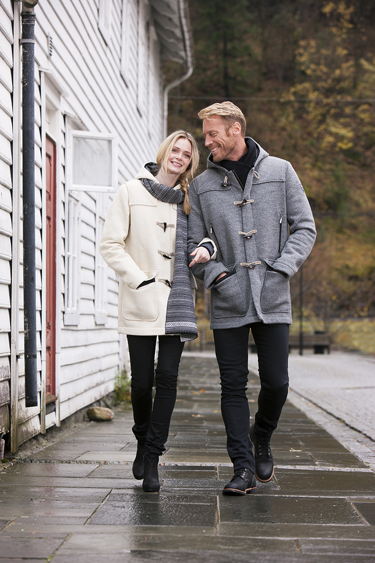 Oslo Knitshell Feminine Duffle Coat WP (1)