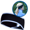 Goodbye Girl Ponytail Headband black/ true blue