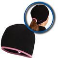 Goodbye Girl Ponytail Hat black / fast pink