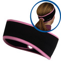 Goodbye Girl Ponytail Headband black/ fast pink