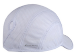 Goodbye Girl Ponytail Running Cap - white w/ white trim
