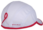Goodbye Girl Ponytail Running Cap - white w / pink trim