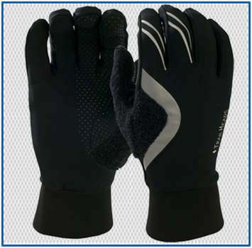 HyperReflect Running Gloves - black / HyperReflect silver picture