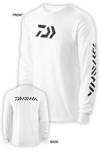 White Long Sleeve T-Shirt, Size L picture