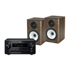 Yamaha CRX-N560D Music Streaming/CD/DAB System<br>Monitor Audio Bronze BX1 Speakers