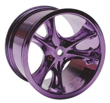 Monster Clawz Standard Offset Purple Chrome Wheels picture