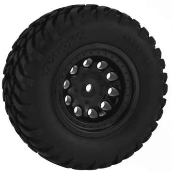 Black Revolver Short Course Wheels - Slash 2wd Rr.* picture