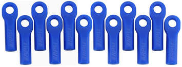 Traxxas Long Rod Ends - Blue picture
