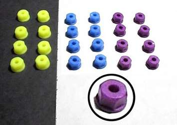 4-40 (3mm) Nylon Nuts - Blue picture