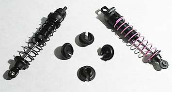 Black Shock Spring Cups - Losi, Traxxas, Assoc. MGT & Savage Shocks picture