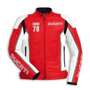 Ducati IOM78 Non-Perforated Leather Jacket - Red - Size 52