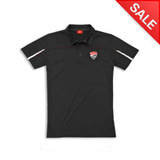 Ducati Corse Men's Polo Shirt-Black - Size Small
