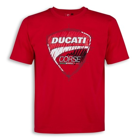 Ducati Corse Sketch T-Shirt - Red - Size Large picture