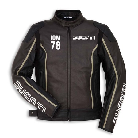 Ducati IOM78 Perforated Leather Jacket - Dark Brown - Size 52 picture