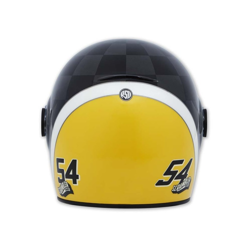 scrambler, riding gear, ducati scrambler check ace helmet