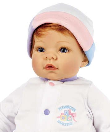 Newborn Nursery Baby Doll - Munchkin - Light Skin, Strawberry Blonde Hair, Blue Eyes picture