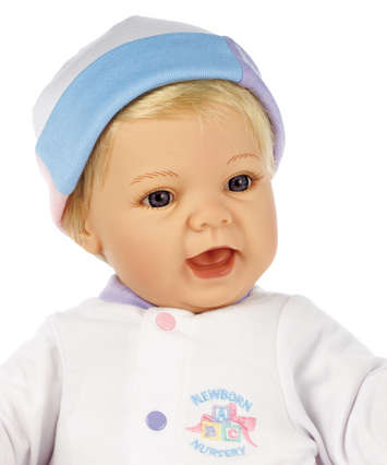 Newborn Nursery Baby Doll - Sweet Baby Doll - Light Skin, Blonde Hair, Blue Eyes picture