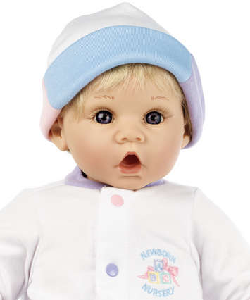 Newborn Nursery Baby Doll - Little Sweetheart - Light Skin, Blonde Hair, Blue Eyes picture