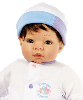 Newborn Nursery Baby Doll - Munchkin - Light Skin, Brown Hair, Blue Eyes picture
