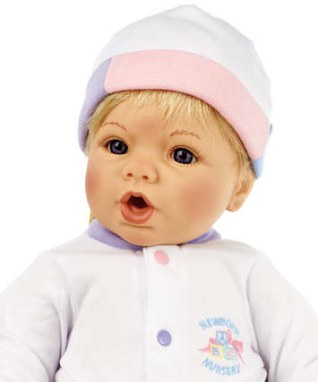 Newborn Nursery Baby Doll - Cuddle Me - Light Skin, Blonde Hair, Blue Eyes picture
