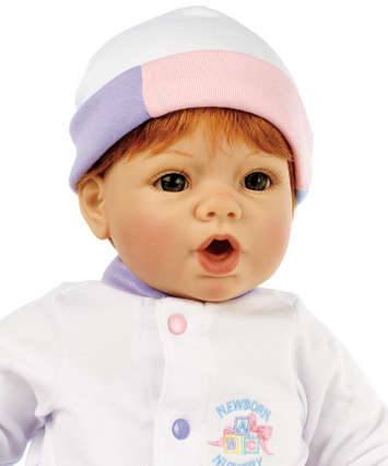 Newborn Nursery Baby Cuddle Me 19 inch Doll - Light Skin, Auburn Hair, Hazel Eyes picture