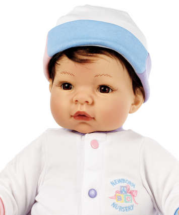 Newborn Nursery Baby Doll - Munchkin - Light Skin, Brown Hair, Brown Eyes picture