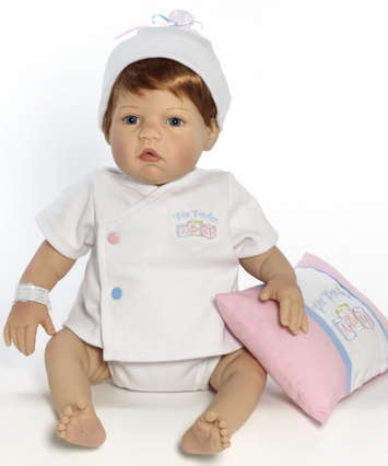 Newborn Nursery Baby Doll - Wee Wonder - Tiny Love - Light Skin, Strawberry Blonde Hair, Blue Eyes picture