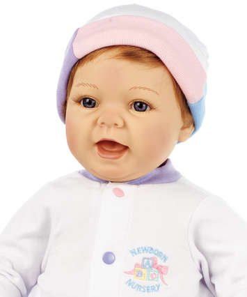 Newborn Nursery Baby Doll - Sweet Baby Doll - Light Skin, Strawberry Blonde Hair, Blue Eyes picture