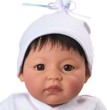 Newborn Nursery Baby Doll - Wee Wonder - Itty Bitty - Light Skin, Black Hair, Brown Eyes picture