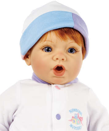Newborn Nursery Baby Doll - Cuddle Me - Light Skin, Auburn Hair, Blue Eyes picture