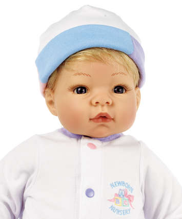 Newborn Nursery Baby Doll - Munchkin - Light Skin, Blonde Hair, Blue Eyes picture