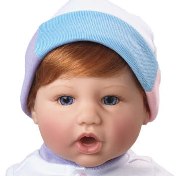 Newborn Nursery Baby Doll - Precious Gift - Light Skin, Auburn Hair, Blue Eyes picture