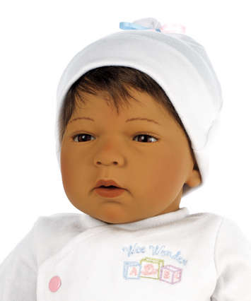 Newborn Nursery Baby Doll - Wee Wonder - Sleepy Head - Medium Skin, Brown Hair, Brown Eyes picture