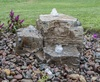 Natural Pagoda Fountain Stone - Set of 3 (Small, Med, Large)