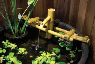 Adjustable Pouring Bamboo Fountain with pump picture