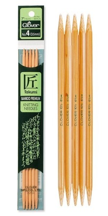 Takumi Bamboo Knitting Needles Double Pointed (7 INCH) 5 pack picture