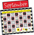 NEW! Buffalo Plaid & Wide Stripes Calendar Chart Set