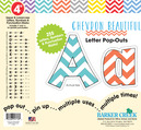 "4"" Chevron - Beautiful Letter Pop-Outs"