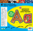 "Western 4"" Letter Pop-Outs"