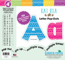 "NEW!! 4"" Bohemian Letter Pop-Outs"