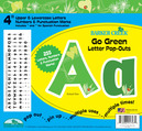 "Go Green 4"" Letter Pop-Outs"