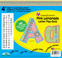"NEW! Pink Lemonade 4"" Letter Pop-Outs"