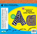 """Africa 4"""" Letter Pop-Outs"""