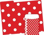 NEW! Folder/Pocket Set - Red & White Dot