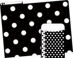 NEW! Folder/Pocket Set - Black & White Dot