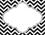 Chevron - Black Name Tags