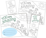 NEW! Color Me! You Are Amazing Awards & Bookmarks Set