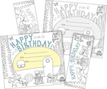 NEW! Color Me! Happy Birthday Awards & Bookmarks Set